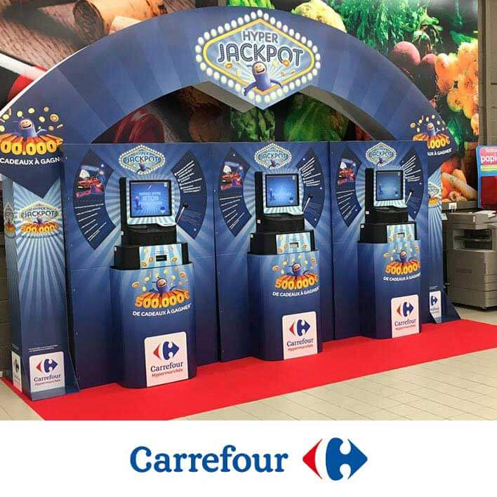 animation borne jackpot jeu carrefour