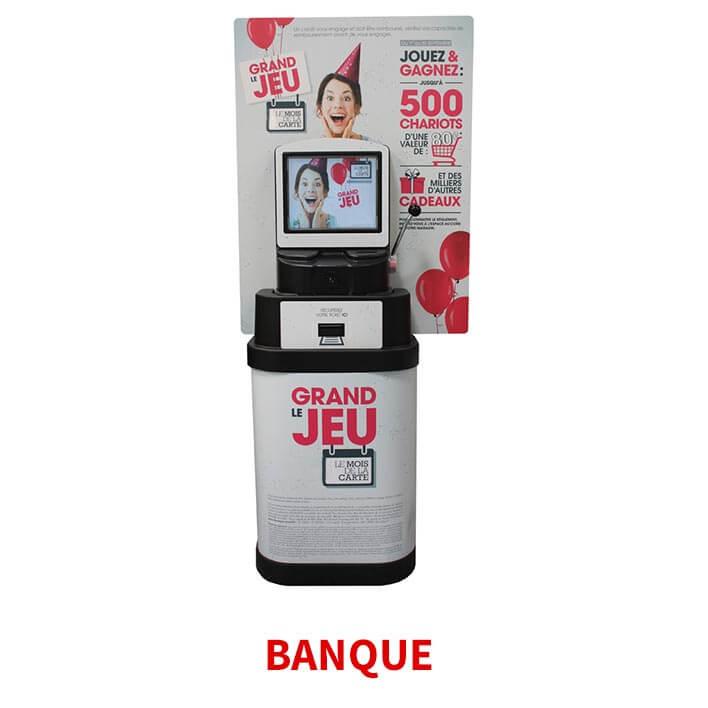 borne jackpot banque