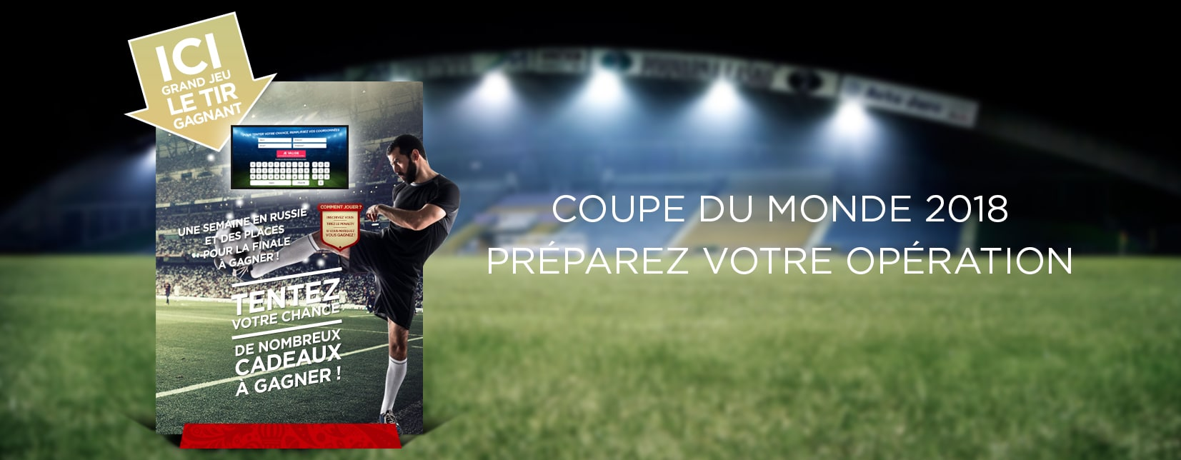 borne de jeu coupe du monde de football