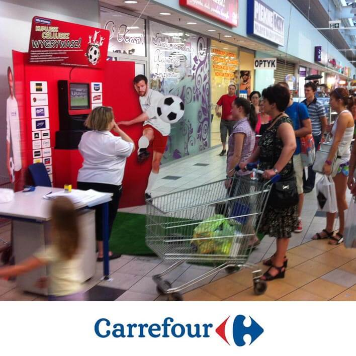 borne jeu carrefour football