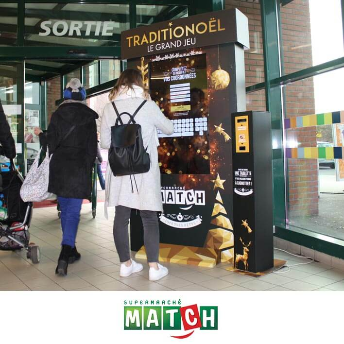 borne collecte supermarche match