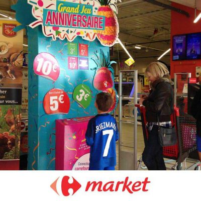 jeu concour en borne carrefour market