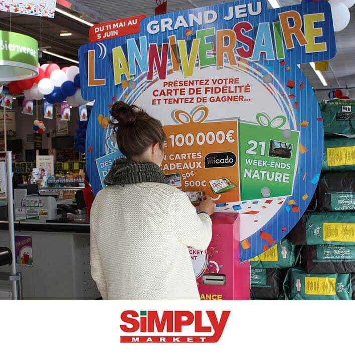 borne de jeu simply market