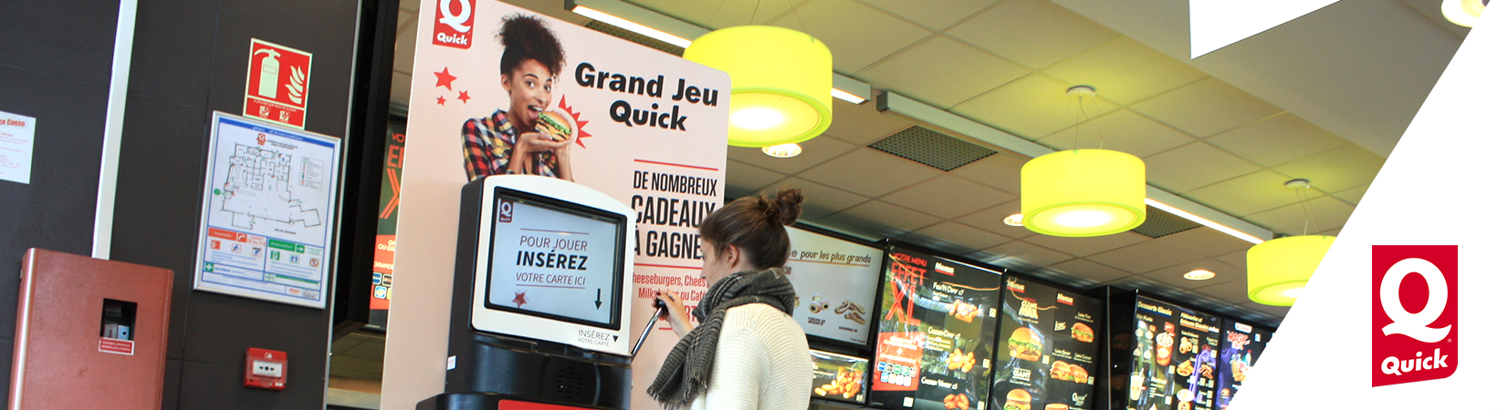 Grand Jeu national Quick - Borne de jeu