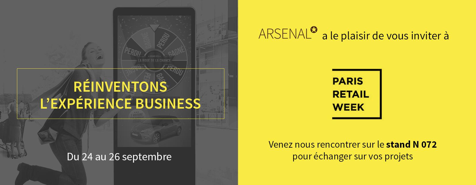 Arsenal présente ses bornes de jeu au salon Paris Retail Week