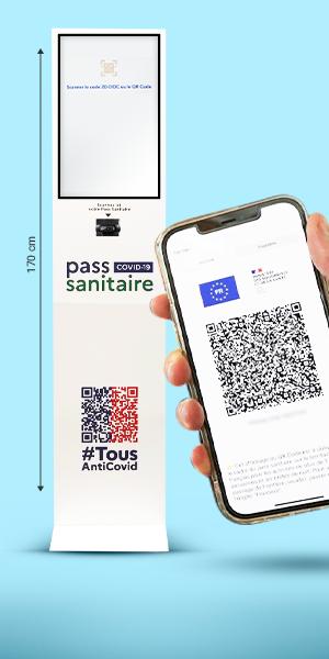 Borne digitale pass sanitaire