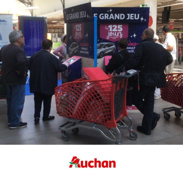Auchan borne de jeu 10 pouces