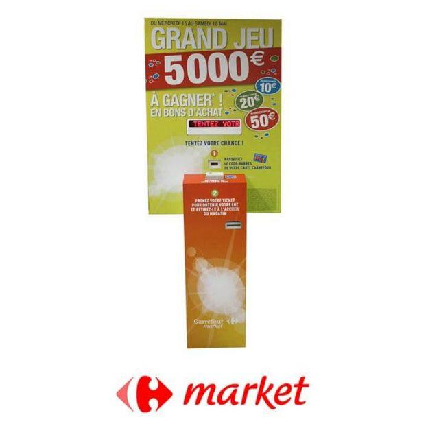 borne droite carrefor market