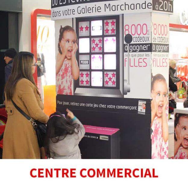 borne de jeu magasion centre commercial