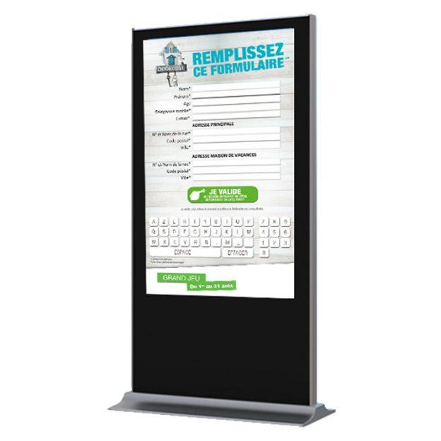 borne interactive 55 pouces