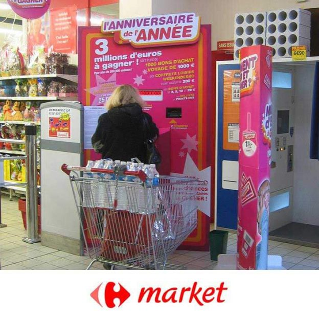 borne animation carrefour market