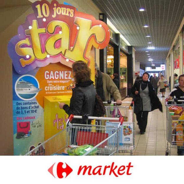 borne carrefour market 10 jours star