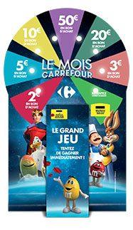 Borne de jeu opération Le mois Carrefour