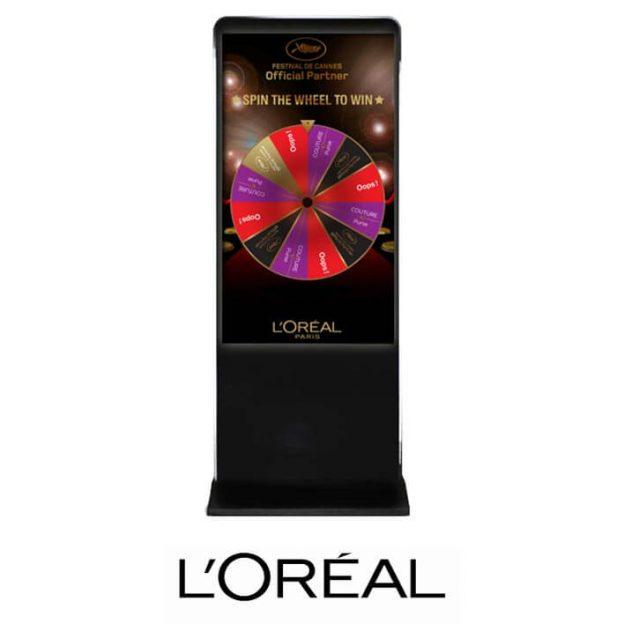 borne roue de la chance loreal