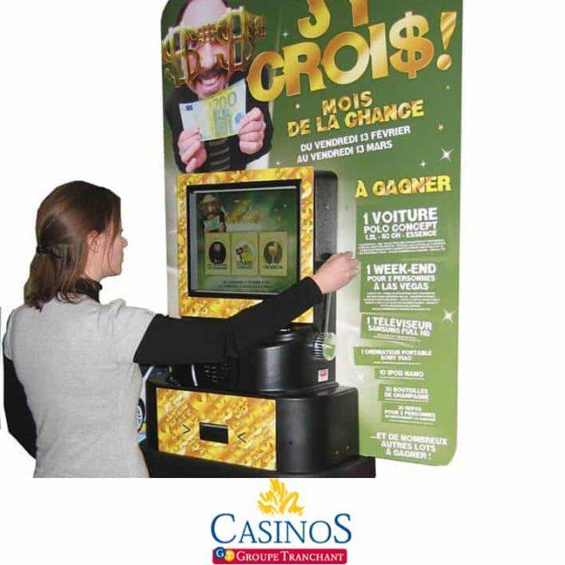 borne ecran jackpot casino