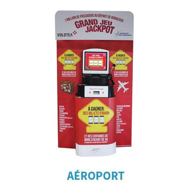 borne grand jeu jackpot aeroport
