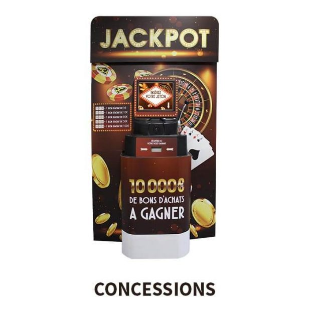 borne jackpot location jeu concession