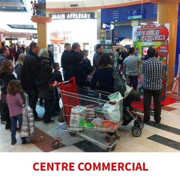 centre commercial borne de jeu