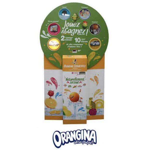 borne de jeu promotion marque orangina
