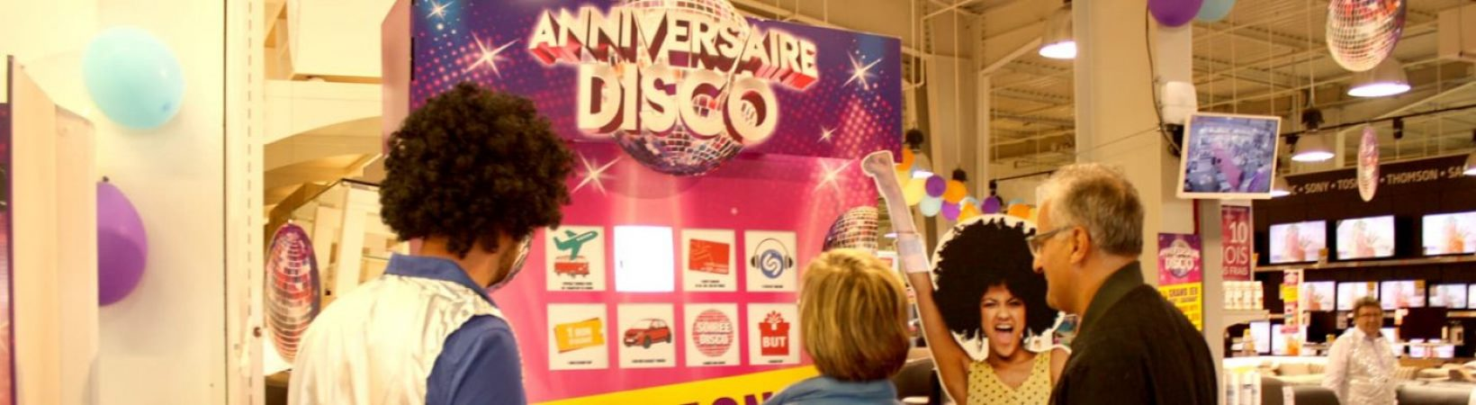 borne de jeu disco